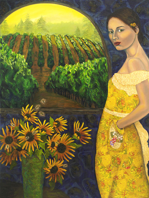 sunflower-days48_x36_mixed-media7c46